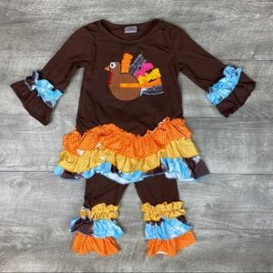 Toddler girls boutique thanksgiving ruffle outfit
